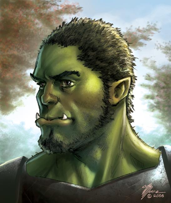 Half Orc Portrait Half-orc - Eber...